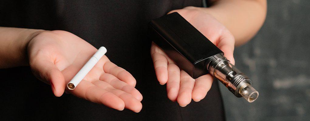 choice between vape an cigarette