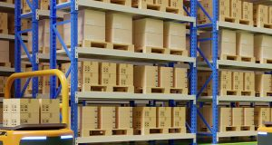 warehouse in logistic center